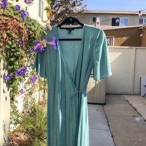 ASOS Polka Dot Wrap Midi Dress